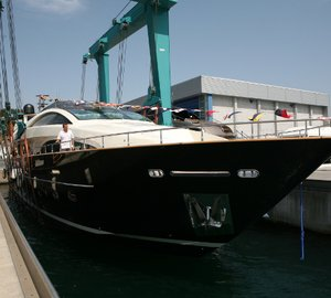 Riva launches the 8th 115' Athena motor yacht at the Ferretti shipyard