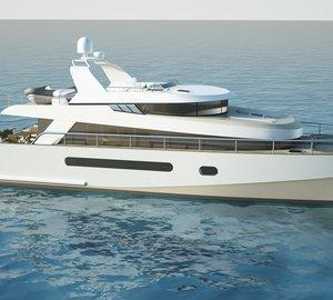 The new 65' trawler catamaran by Alu Marine shipyard and Stirling Design International