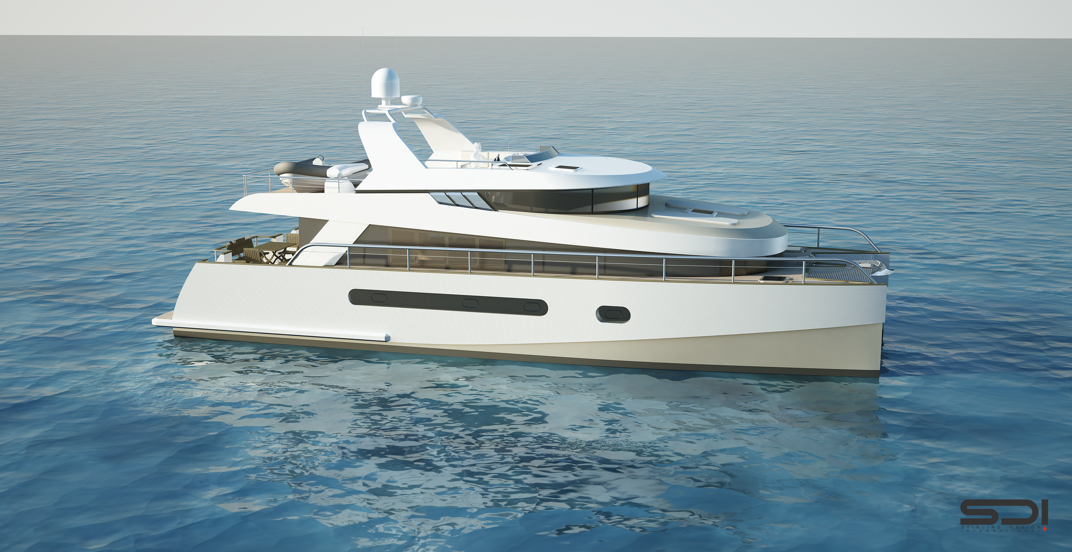 The new 65' trawler catamaran by Alu Marine shipyard and