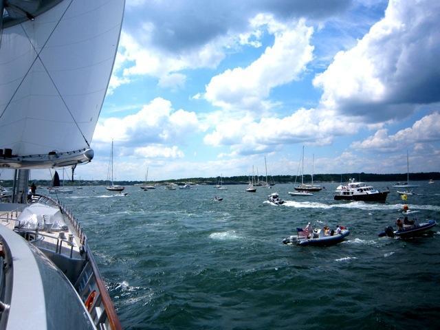Transatlantic Race 2011: A Great First Day onboard Superyacht Maltese Falcon