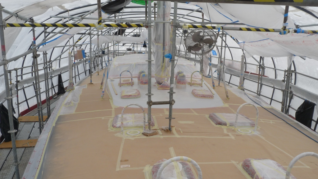 Vitter's sailing yacht MARIPOSA 3a refitted at Varadero Valencia