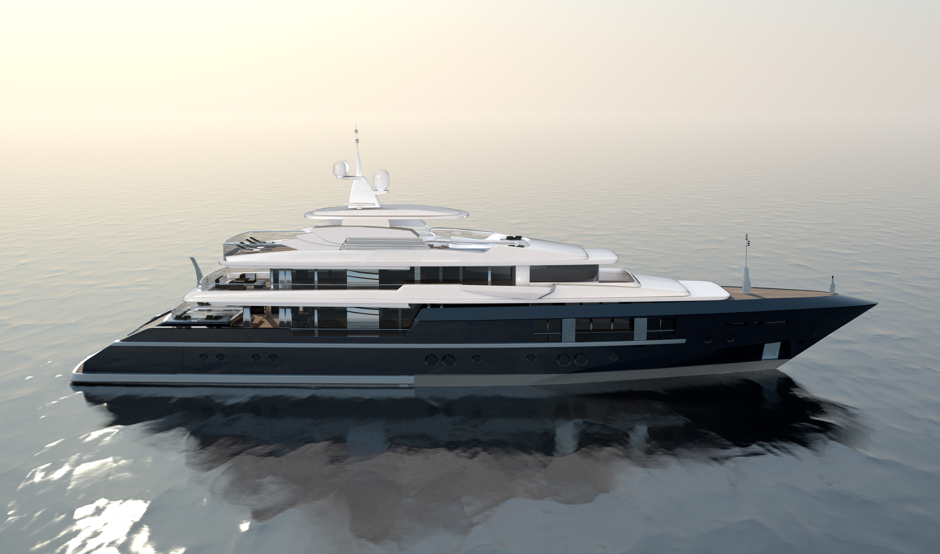 newcruise touch  yacht concept perspective view yacht charter superyacht news