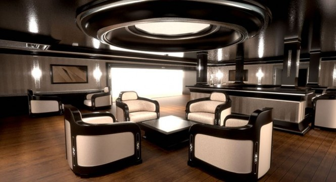 Interior of the 100m Motor yacht Sovereign by Gray Design