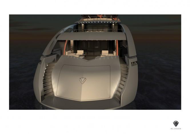 50m Motor Yacht Proxima aft view
