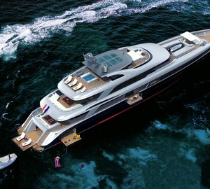 50m Jongert 500 LE motor yacht Bn433 by Azure Naval Architects and Guido de Groot