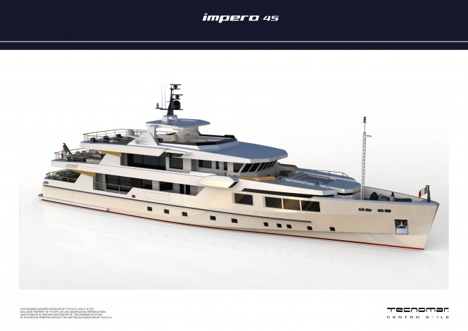New build IMPERO 45 motor yacht contract signed by Tecnomar