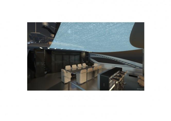 RF Yachts designed superyacht Proxima detail