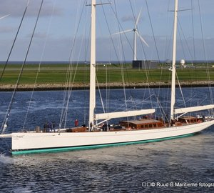49m Sailing Yacht KAMAXITHA (ex The Spirit of Tradition) by Royal Huisman on Sea trials