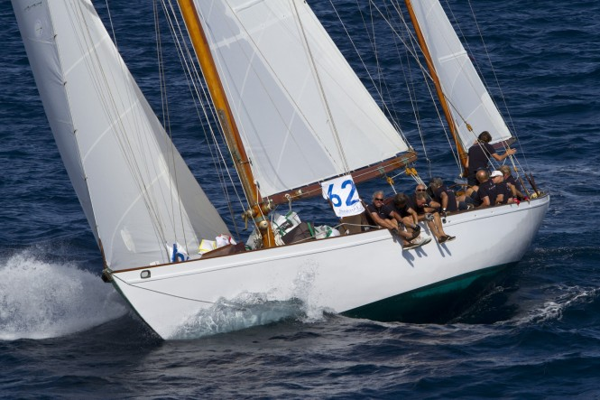 Sailing yacht Manitou, once owned by US President John Fitzgerald Kennedy, built in 1937 by shipyard Davis & Son, designed by Sparkman & Stephens - Photo Alexis Courcoux