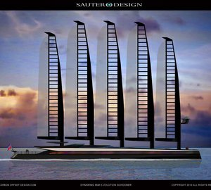 The 66m Emax E-Volution Solar Hybrid Schooner by Sauter Carbon Offset Design - The Fastest and Greenest Superyacht