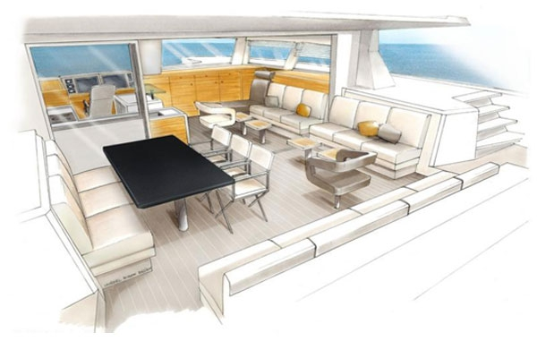 The Catana 59 Catamaran Interior Design