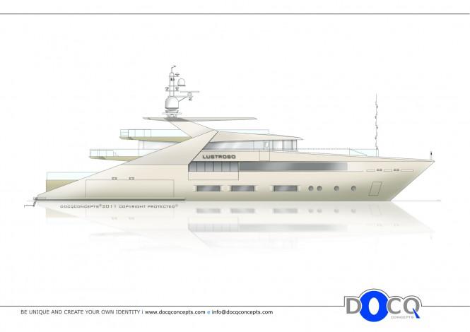47m Superyacht Lustroso design by Docq Concepts
