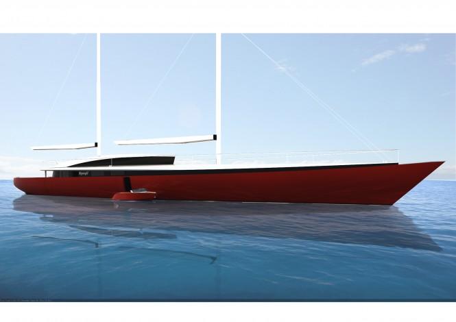 60m sailing yacht concept Vestar by Sigmund Yacht Design