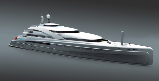 90m Motor Yacht Illusion by RMD begins construction at Raffles Shipyard