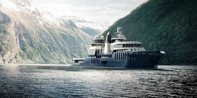 Claydon Reeves 70m Motor Yacht Cosmos Conversion Project