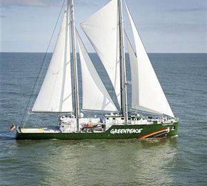 Greenpeace launches a new Rainbow Warrior III motor yacht