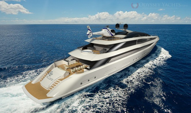 Odyssey Yacht Design motor yacht Veloce on water