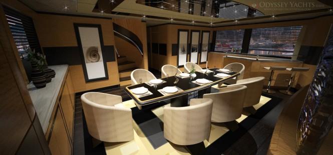 Odyssey Yacht Design superyacht Veloce dining area