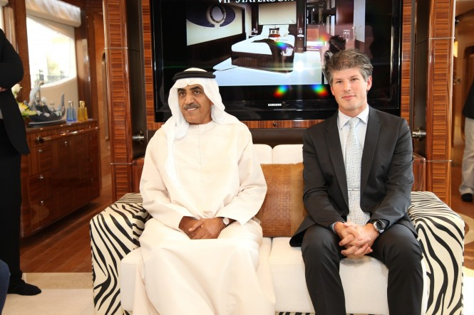 Press Conference, Left to right  Mohamed Alshaali, Chairman Gulf Craft; Erwin Bamps, COO