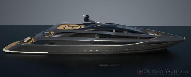 Superyacht Veloce - a 52m motor yacht by Odyssey Yacht Design - Profile