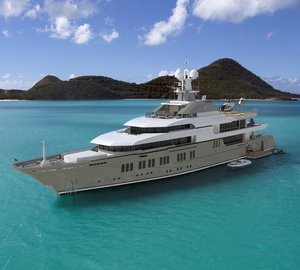 The use of glass on the 72m motor yacht Stella Maris by Viareggio Superyachts