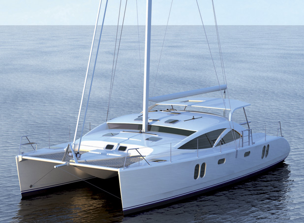 Catamaran Yacht Discovery 50 on display at Miami International Boat Show — Yacht Charter ...