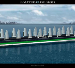 The Emax Deliverance motor yacht by Sauter Carbon Offset Design- A DynaWing Solar Hybrid Supertanker
