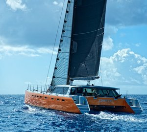 Stunning 32m Luxury Catamaran NECKER BELLE now available for Caribbean Yacht Charter Vacations
