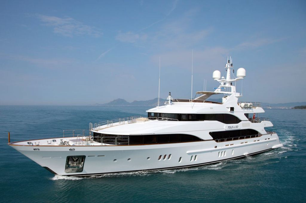 Motor Yacht TOLD U SO available for luxury yacht charters in the Maldives, Indian Ocean