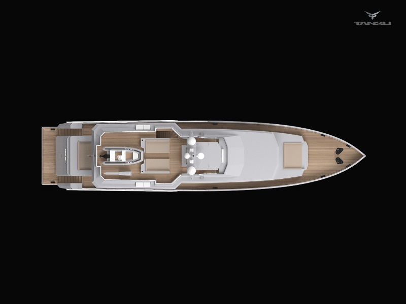 Only Now superyacht - upview