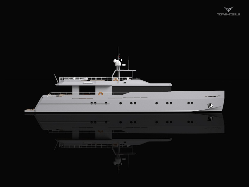 Super yacht Only Now - sideview