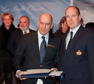 Igor Simcic, owner of Esimit Europa 2 superyacht admitted to the Yacht Club de Monaco