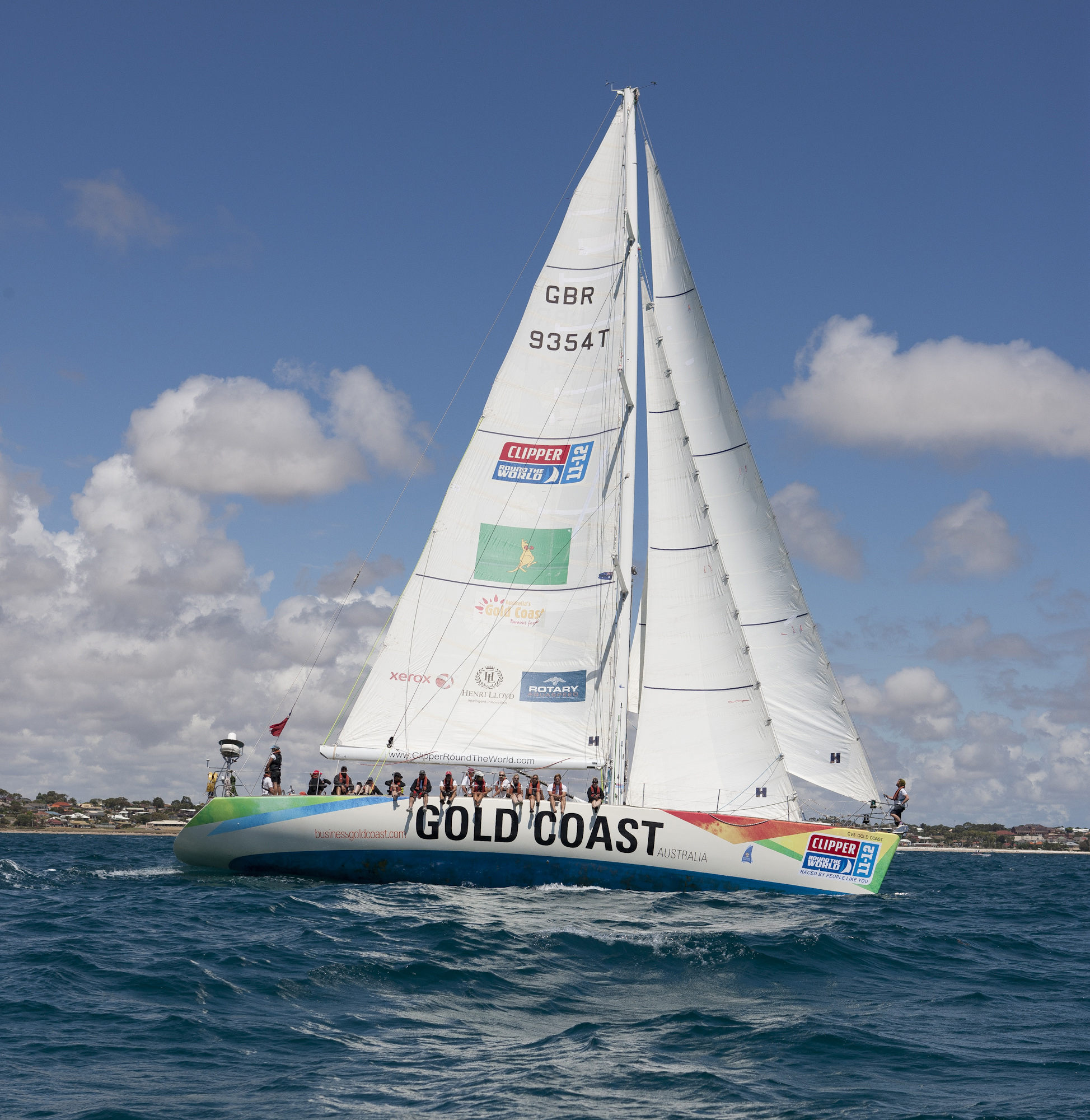 Gold Coast Australia at the start of Race 5 from Geraldton, Western Australia to Tauranga, NZ, in the Clipper 11-12 Round the World Yacht Race