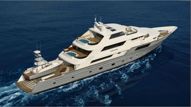 Evolution Superyacht - View from above