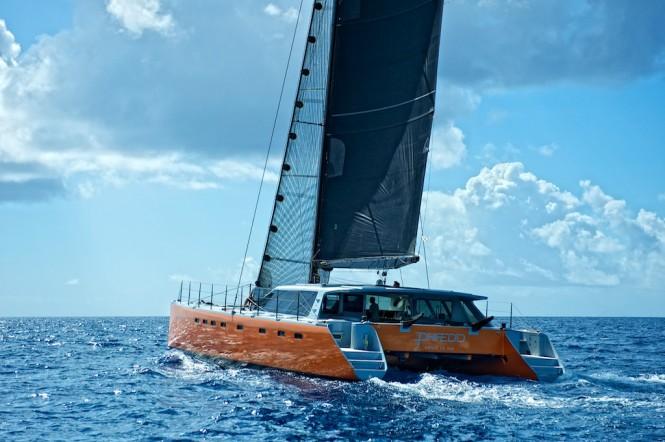 Gunboat 66´ catamaran yacht PHAEDO with I3D light settings