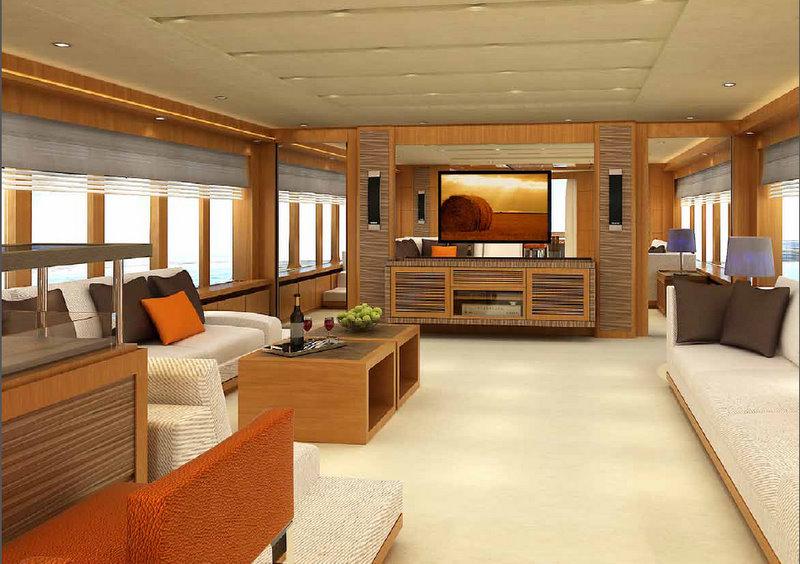 IAG 100 luxury yacht Electra - Main Saloon