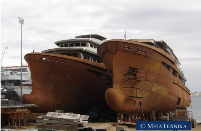 Mega Technica 50m hulls