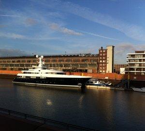 60m KAISER superyacht in the Harbour of Bremen