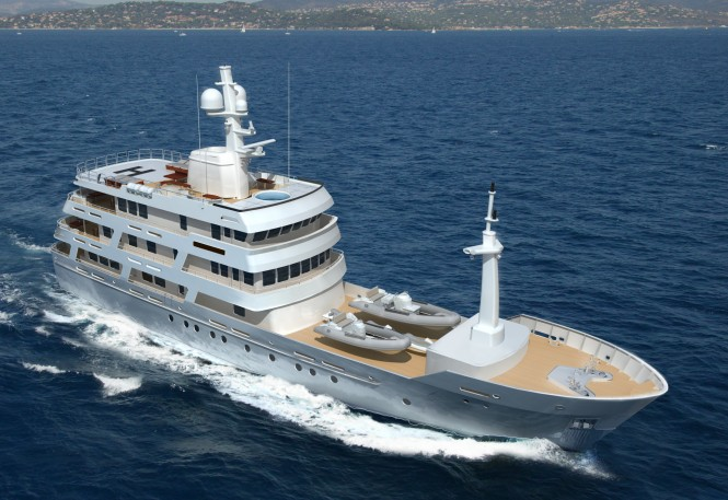 New 54m Luxury Motor Yacht Chuggaboom designed by Vripack
