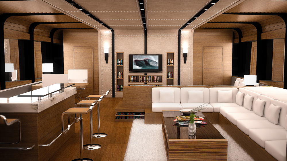On board Super Cat 154 Yacht by Franco Gianni