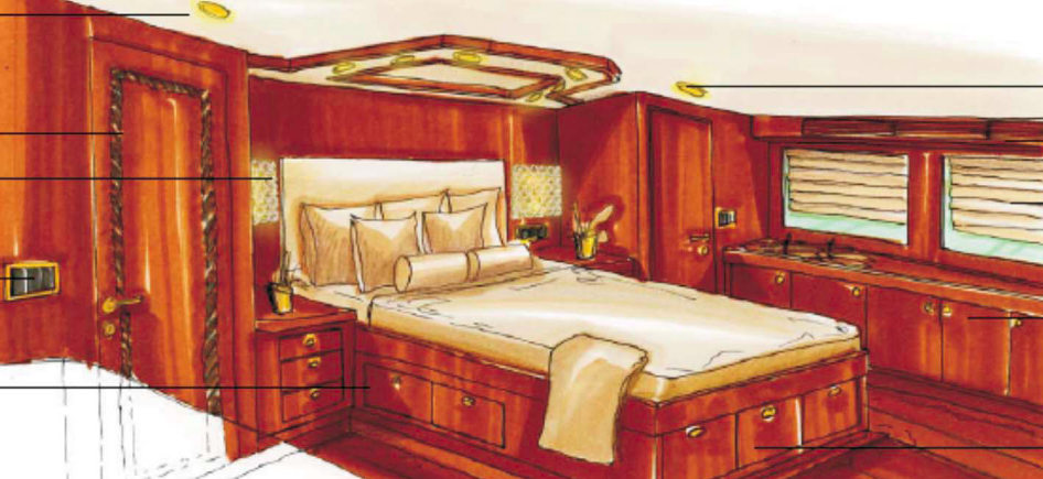 Owner Stateroom - motor yacht SMILIN G T - JY 116 Jade Yacht