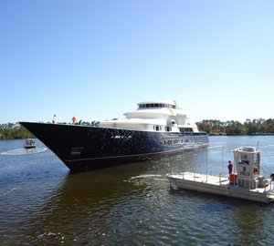 242' (73.8m) Six-Deck superyacht New Horizon launched by Trinity Yachts – The Largest American Built Superyacht to Launch in 2011