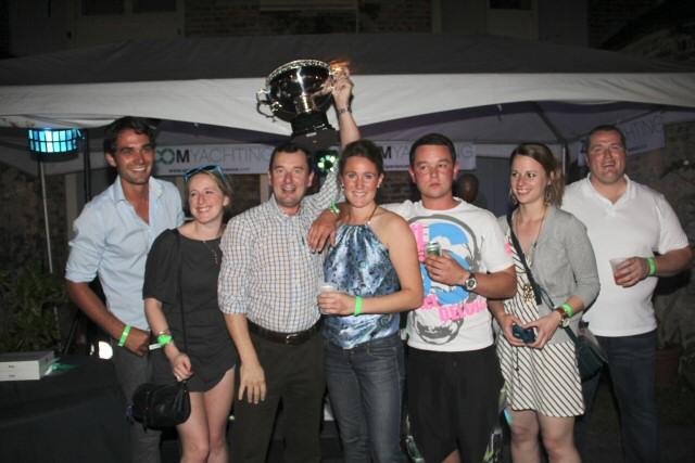 Yacht Teleost winner of the Nelson's Dockyard Marina Yacht Party Award at the Antigua Yacht Charter Show