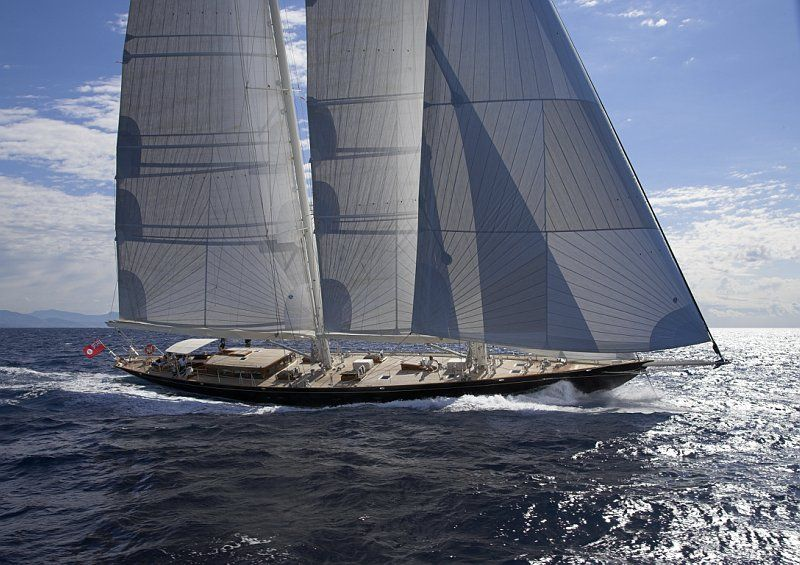 141´ luxury charter yacht This Is Us - Under Sail