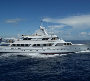 Refitted 151' Charter Yacht Golden Compass debut at the 2012 Dubai Boat Show