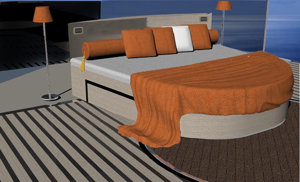 50m Terraced superyacht designed by Francesco Corda - Stateroom