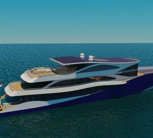 63m eco-friendly super yacht Diana Navitas (Diana 439) by Diana Yacht Design