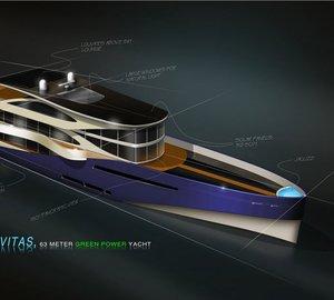 63m green motor yacht Diana Navitas by Diana Yacht Design