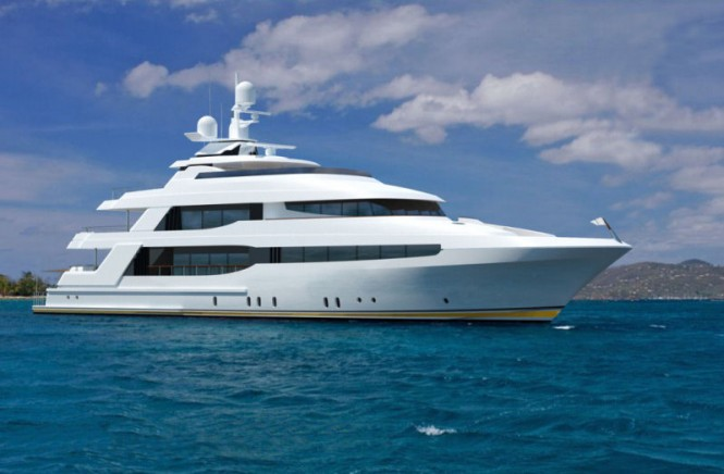 Crescent 144 Superyacht - side view