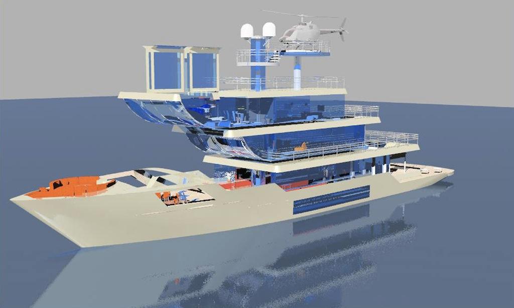 Francesco Corda designed superyacht Terraced